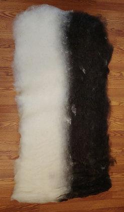 Superfine Black and White Finnsheep and Alpaca Batt