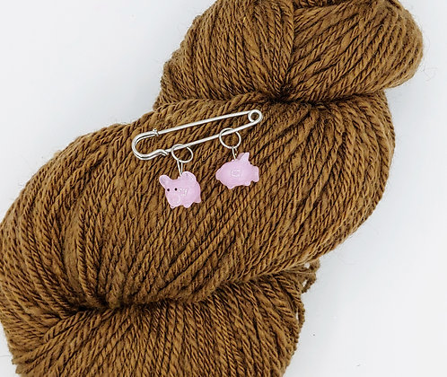Pair of Pig Stitch Markers