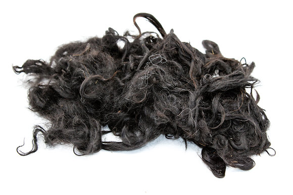 Washed Black Suri Alpaca Locks- sold by the ounce