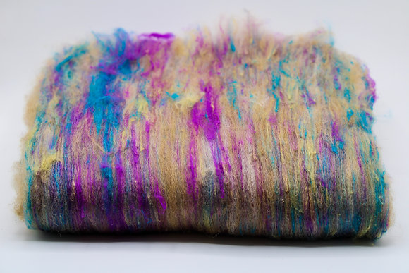 Superfine Alpaca & Silk Blend Batt
