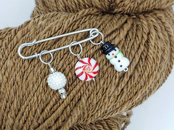 Set of 3 Winter Wonderland Stitch Markers