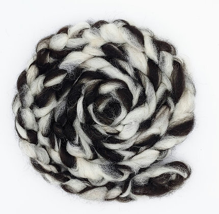 Zebra Alpaca Roving - sold by the ounce