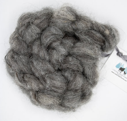 """Blue Slate"" Finnsheep/Alpaca Blend Roving - sold by the ounce"