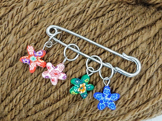 Multicolor Flower Stitch Markers - sold individually