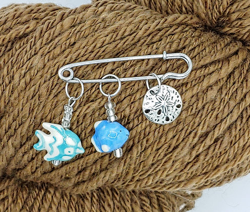 Set of 3 Sealife Stitch Markers
