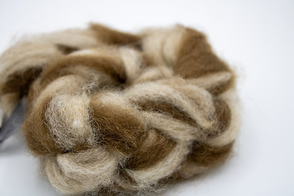 """Puppy Love"" Finnsheep/Alpaca Blend Roving - sold by the ounce"