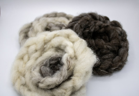 """Drifter""  Finnsheep Roving - sold by the ounce"