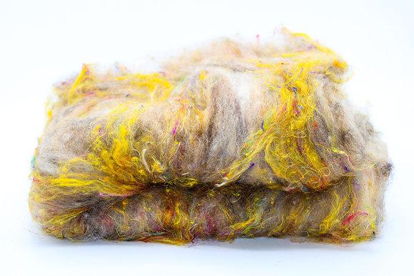 Finnsheep, Alpaca & Silk Blend Batt