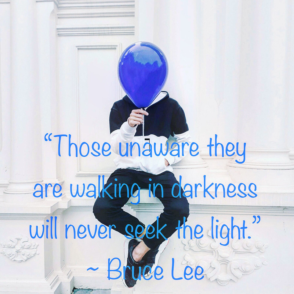 Bruce Lee Quote about Light and Darkness