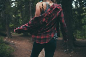 Tank Layered With Flannel