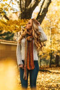 Fall Layers with Sweater and Scarf