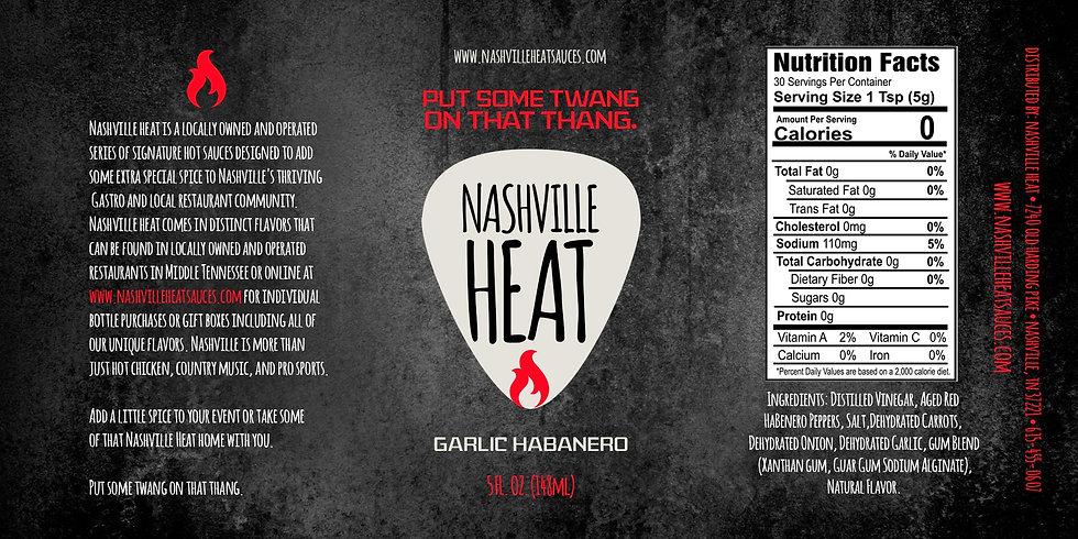 Nashville Heat Garlic Habanero Sauce Casex12