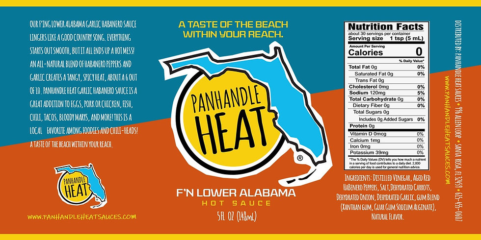 Panhandle Heat F'N Lower Alabama Garlic Habanero Sauce Casex12