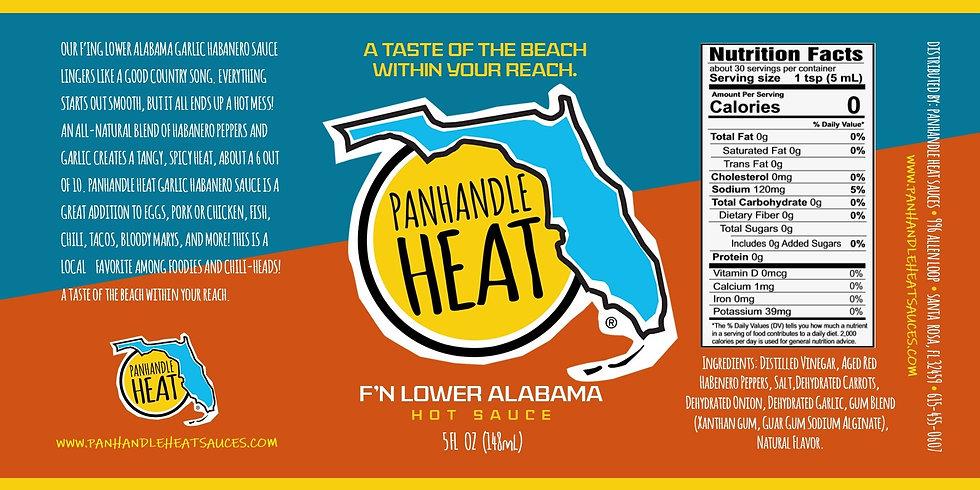 Panhandle Heat - F'N Lower Alabama Garlic Habanero Sauce 5 oz. Bottle