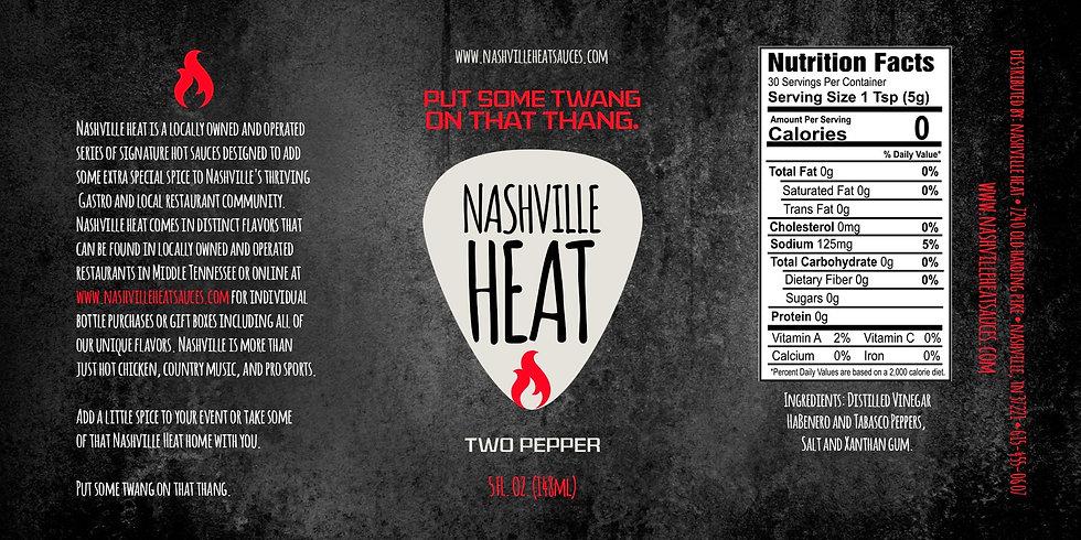 Nashville Heat Two Pepper Sauce Casex12