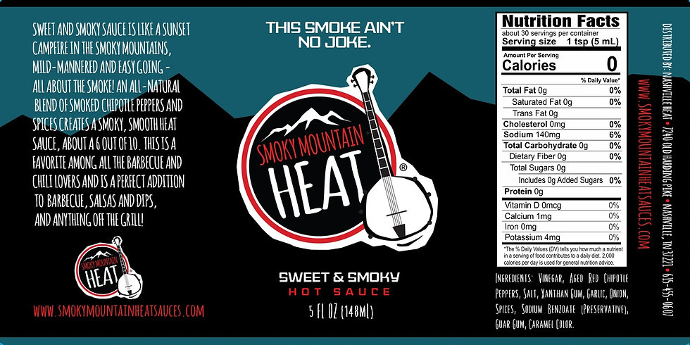 Smoky Mountain Heat Sweet & Smoky Sauce Casex12