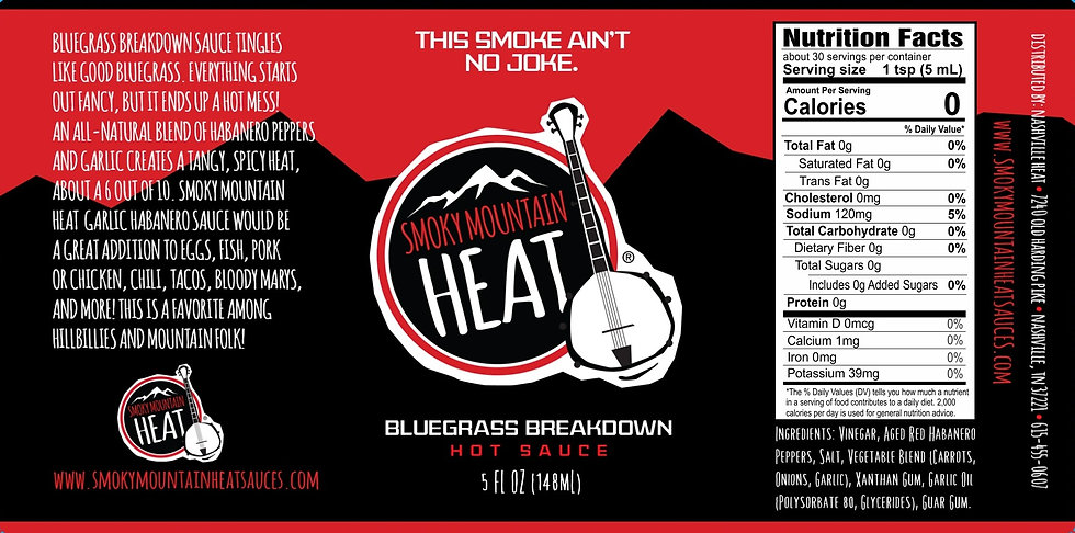 Smoky Mountain Heat Bluegrass Breakdown Sauce Casex12