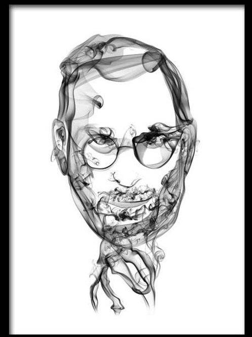 Smoke Portrait-Steve Jobs