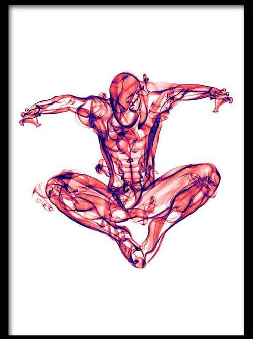 Smoke Portrait-Spiderman