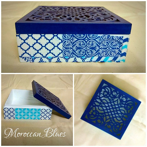 Moroccan Blues Chocolate box