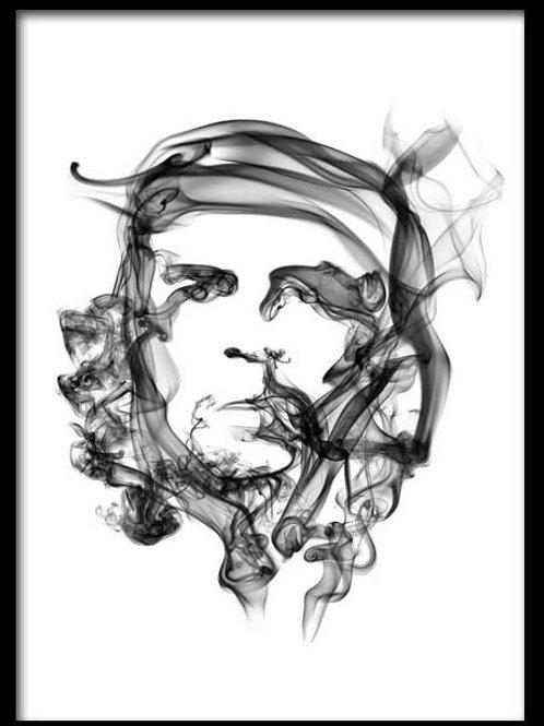 Smoke Portrait-Che Guevera