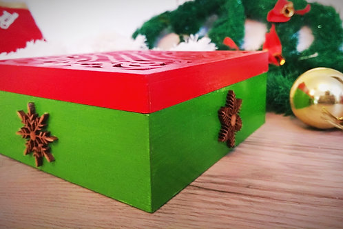 Snow flake chocolate box
