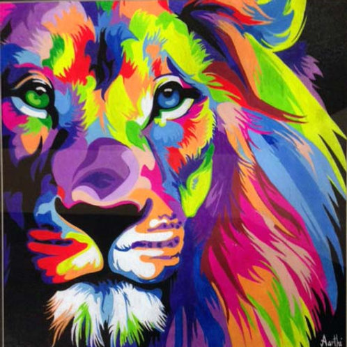 Heterochromic Lion