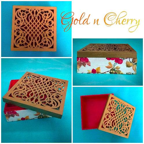 Gold and Cherry chocolate box