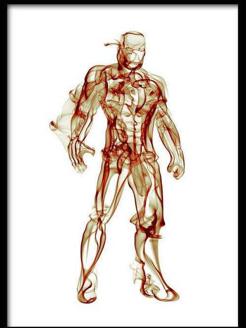 Smoke Portrait-Iron Man