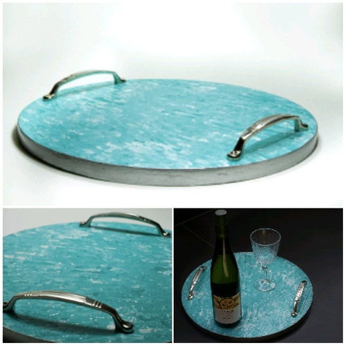 Textured Teal Tray