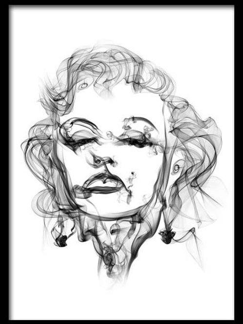 Smoke Portrait-Marilyn Monroe