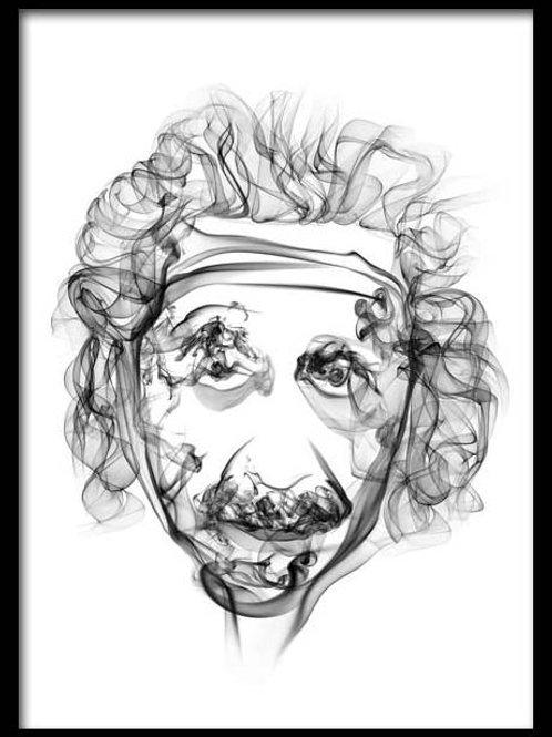 Smoke Portrait-Albert Einstein