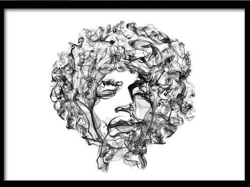 Smoke Portrait-Jimi Hendrix
