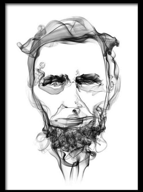 Smoke Portrait-Abraham Lincoln