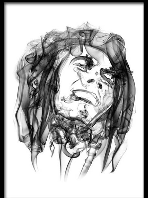 Smoke Portrait-Bob Marley