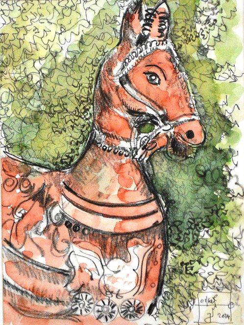 Terracotta Horse at Kalakshetra
