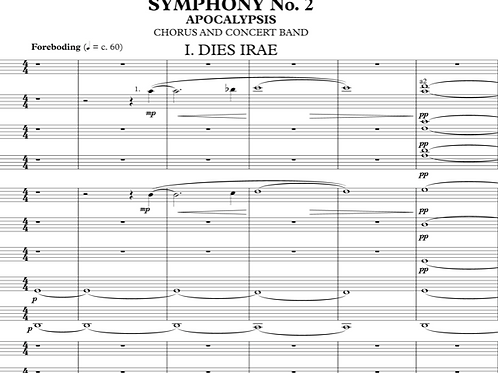 Symphony No. 2 'Apocalypsis' - Score