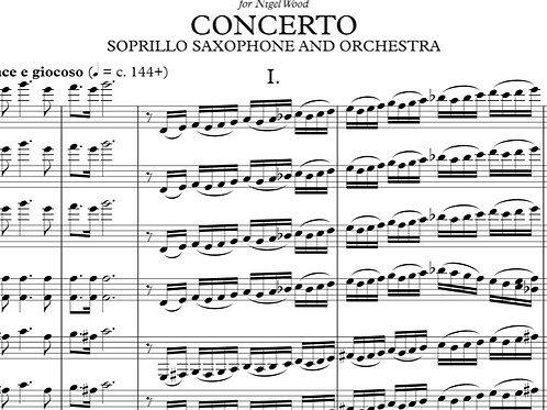 Concerto for Soprillo Saxophone - Parts