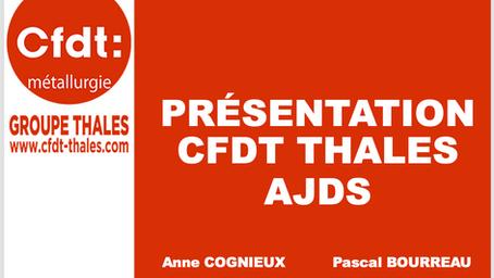 Rencontre avec les coordinateurs de la CFDT Thalès