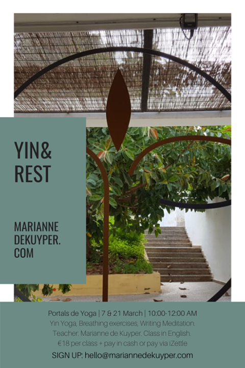 YIN & REST - 7 & 21 march 2020