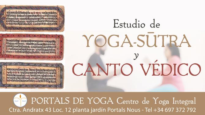 Estudio de Yoga-sūtra y canto védico