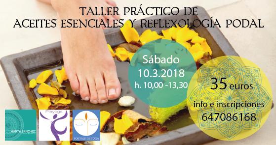 Taller Aceites Esenciales Reflexología podal