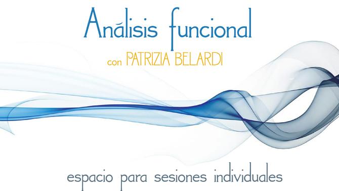 Análisis funcional, espacio para sesiones individuales 26/05/2019