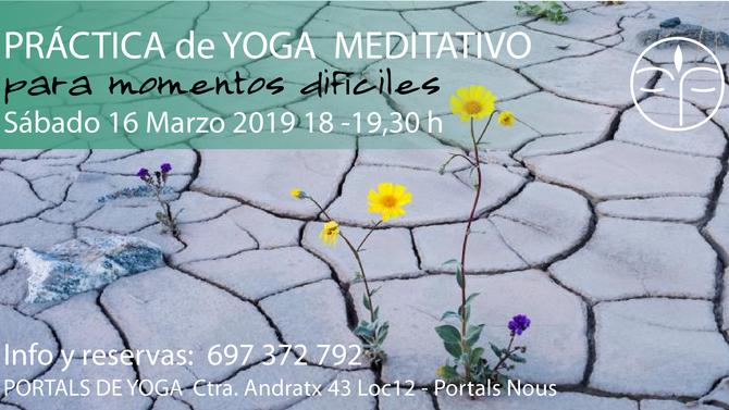 Yoga meditativo para los momentos difíciles