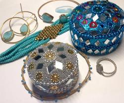 perles turquoises et amazonite