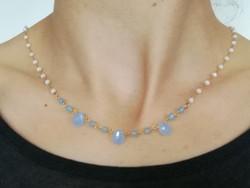 collier agathe bleue
