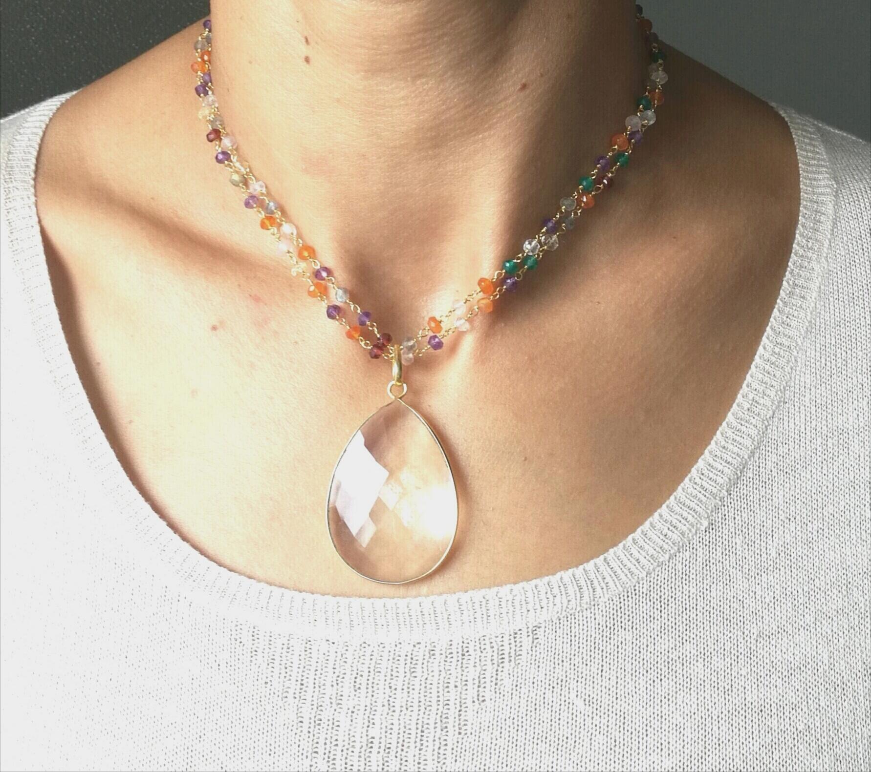 GIGY cristal quartz et tourmalines