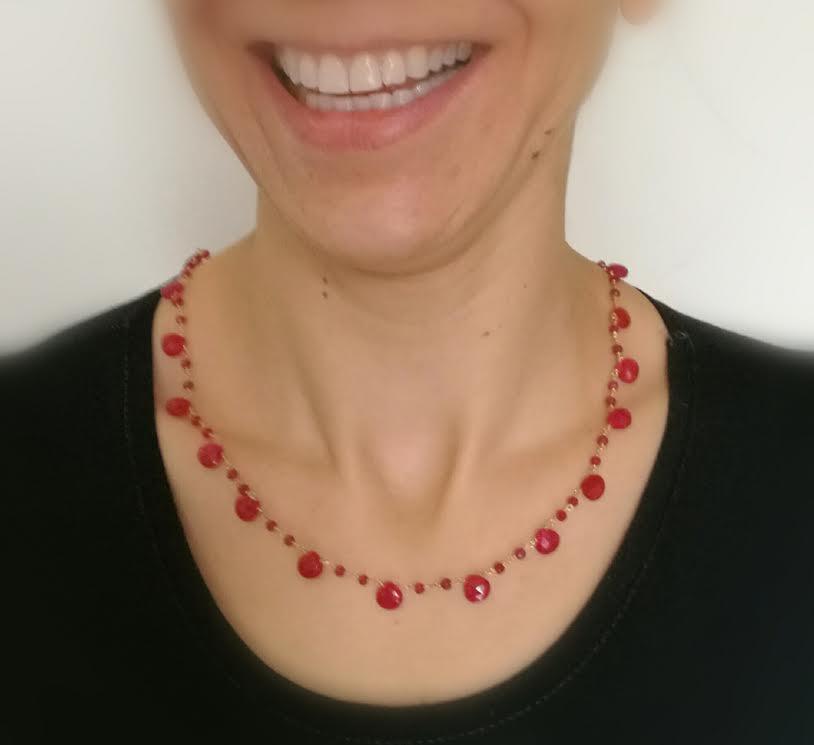collier DELIZ rubis