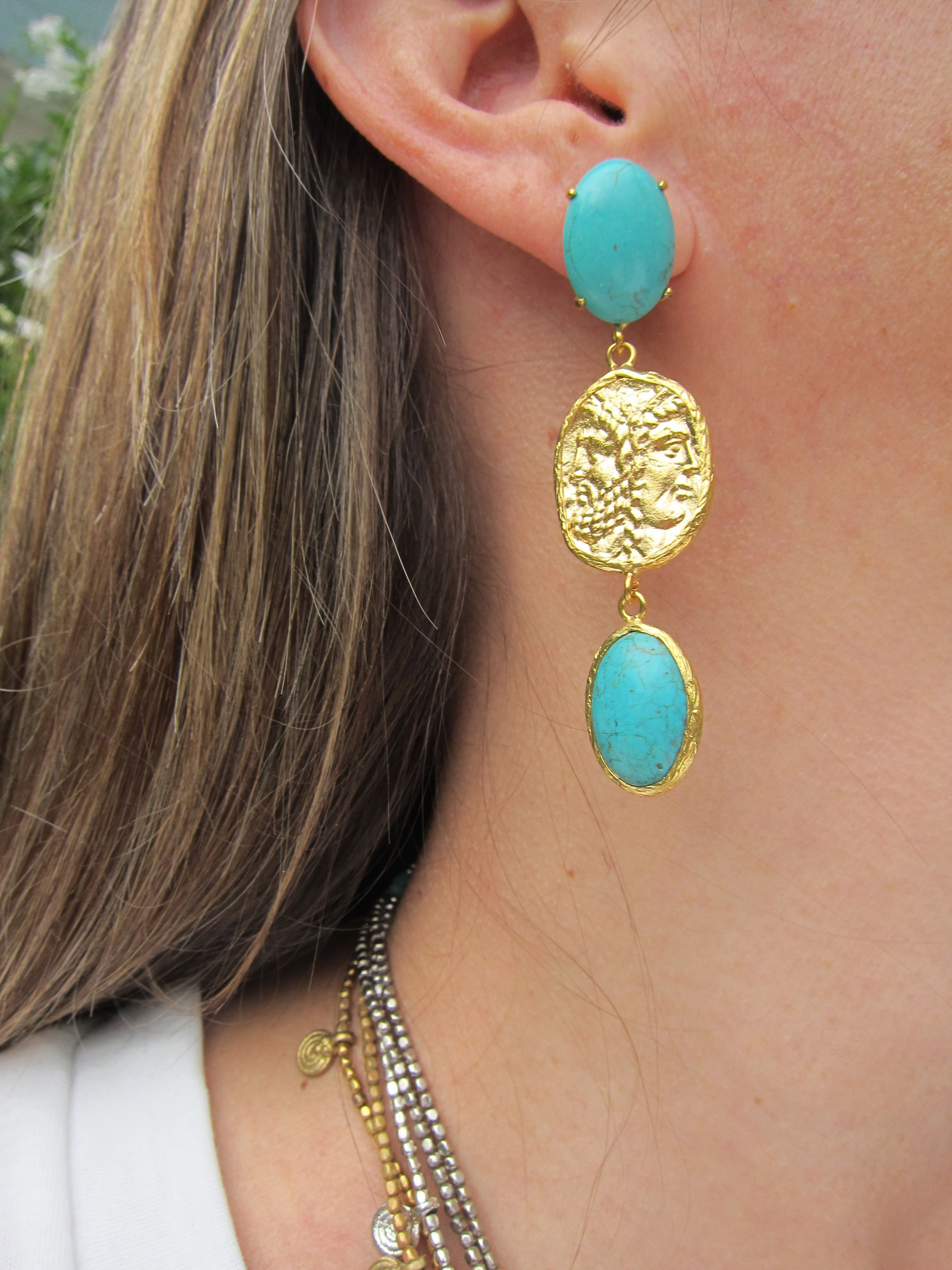 Boucles ALEXY turquoise