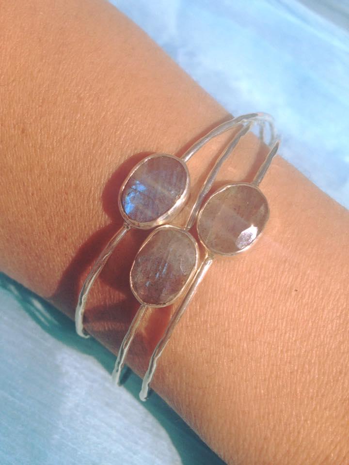 Bracelets MIA labradorite sur argent